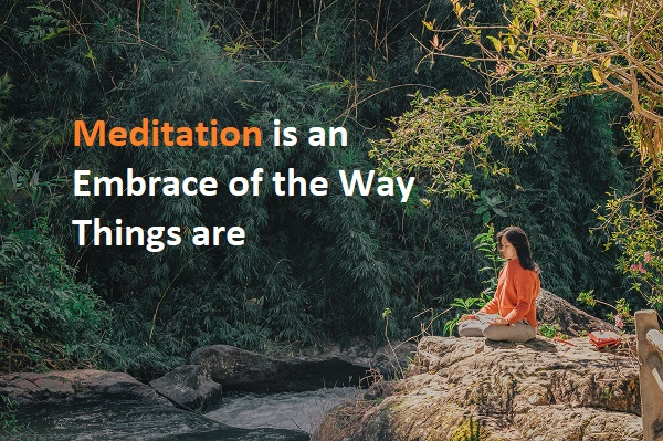 Meditation is an Embrace of the Way Things are