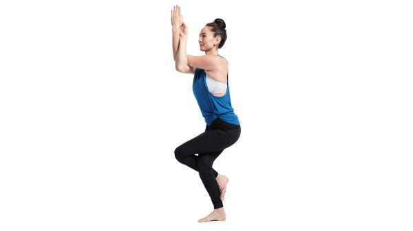Eagle Twist Yoga Posture For Beginners